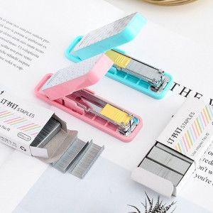 Mini Agrafeuse tons pastel + 800 agrafes