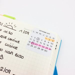 Stickers minimalistes: Calendriers mois 2017