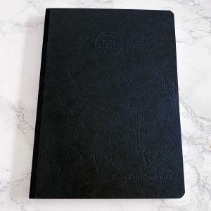 Carnet DOTS Clairefontaine, couverture façon cuir noir