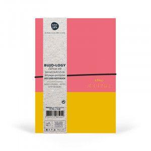 Carnet pointillés, format A5, pages DOTS, papier blanc / jaune et corail