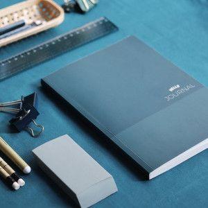 carnet bleu pointillés bujo