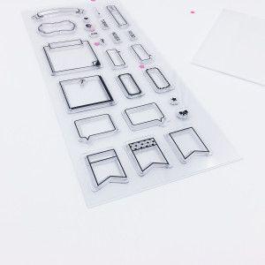 Tampons transparents pour planner: bannières, box, flags.