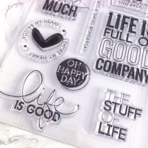 Clear Stamps - Citations (Never say never)