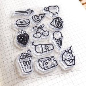 clear stamps fruits