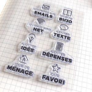 Clear Stamps - Tâches illustrées