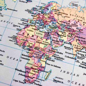 Carte du monde pour planner 6 trous (Filofax)