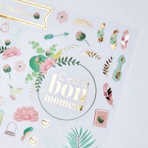 Kit accessoires avec dorures : stickers, masking-tape, sticky notes ...