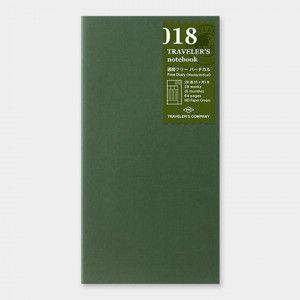 Recharge TRAVELER'S notebook 018 / semainier (perpétuel)