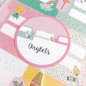 onglets pour bullet journal ou planner