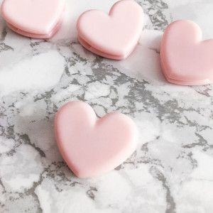 Pince papier forme coeur rose