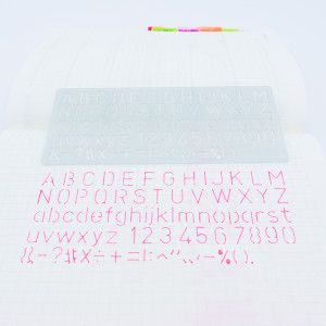 Règle Alphabet Majuscules, Minuscules + Chiffres