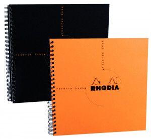Rhodia Classic, cahier spirale à pointillés format carré