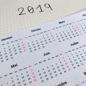 Stickers Calendriers mois 2019