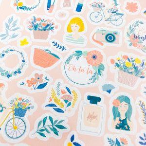 88 stickers  planner féminin