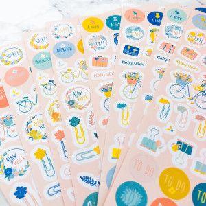 500 stickers féminins