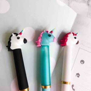 stylo licorne kawaii