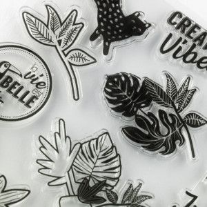 19 Tampons crystal / Clear Stamps Jungle Vibes