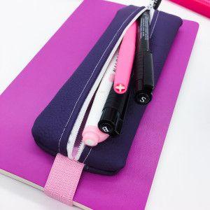 trousse bullet journal violet