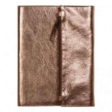 Couverture cuir pour carnet A5 / Cuivre