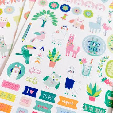500 stickers pour bullet journal