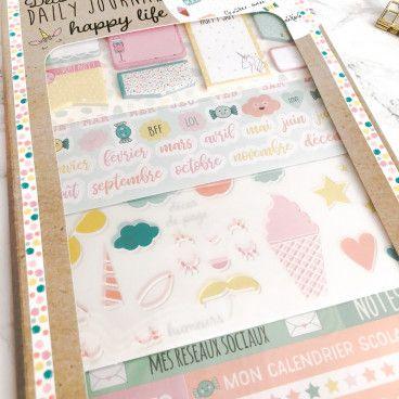 Kit d'accessoires BUJO et Planner / Happy Life