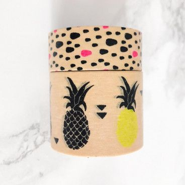 Washi Tape Kraft, Motif Fruits. 10 mètres.