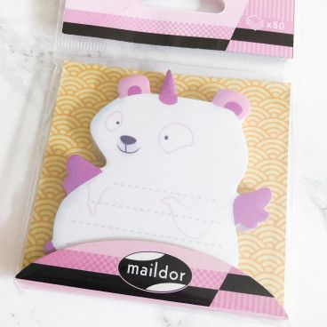 post it ours licorne