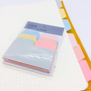 Onglets type post-it, en papier, repositionnables