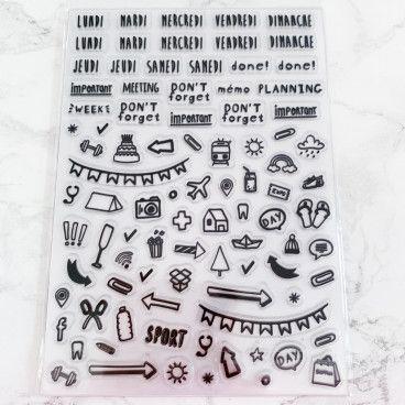 Stickers transparents pour Bullet Journal pour 13 semaines