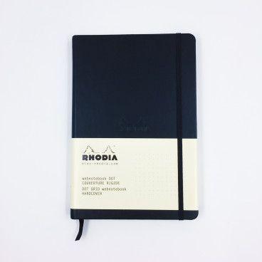 Rhodia Webnotebook, carnet pointillés, couverture rigide