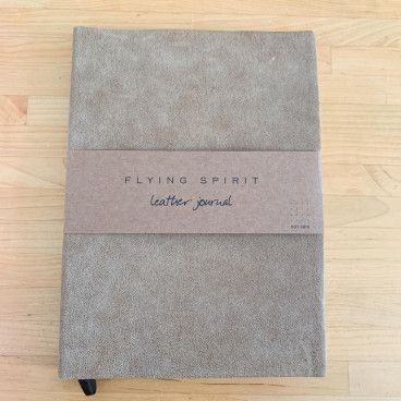 carnet bullet journal cuir beige