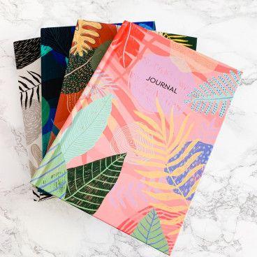 Carnet Pointillés pour Bullet Journal, motif végétal