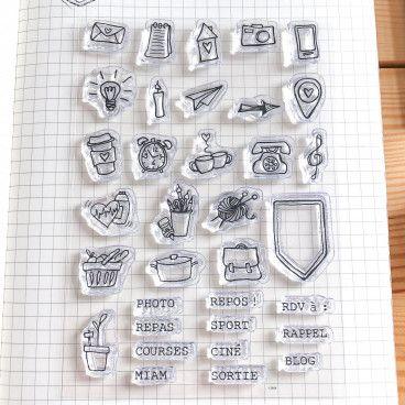 clear stamps annotations vie de tous les jours