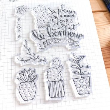Clear Stamps Citation et Plantes