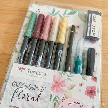 Tombow - Kit Aquarelle FLORAL pour Bullet Journal