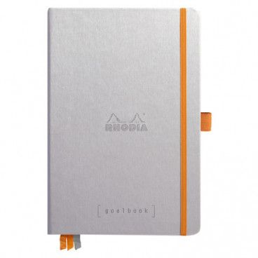 Rhodia Goalbook couverture rigide / Argent