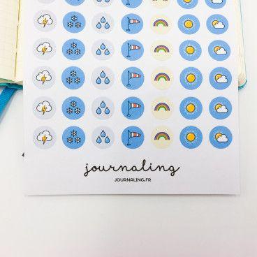 Stickers météo pour planner