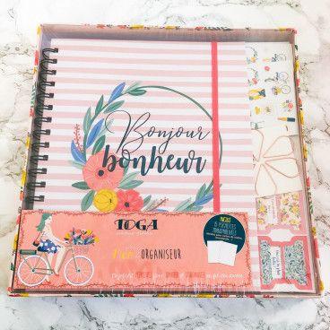 Kit Papeterie Bonjour Bonheur, organiseur perpétuel pour tout ranger!