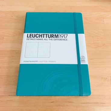 carnet bullet journal leuchtturm emeraude