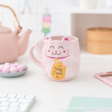 Mug chat Maneki Neko