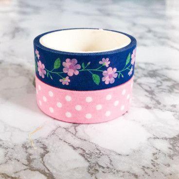 masking tape fleurs et pois