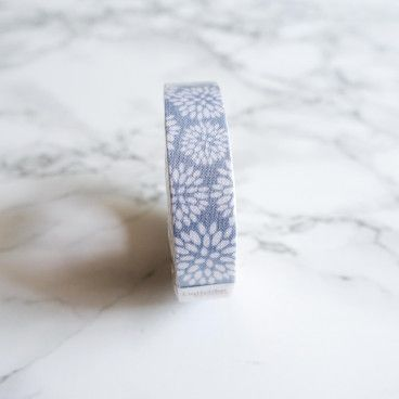 Washi Tape en LIN - bleu dahlias
