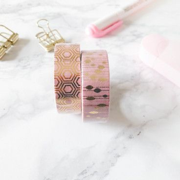 Washi tape rose gold