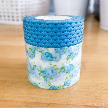 Washi Tape 10 mètres. Collection Fleur Bleue