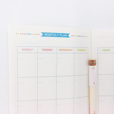 Carnet recharge pour Midori: planning mensuel