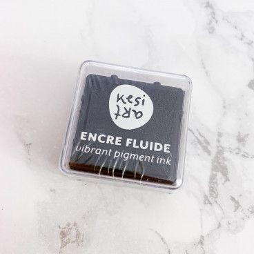 Mini encreur - encre fluide à pigments / Noir charbon