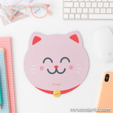 Tapis de souris - Chat Maneki-neko