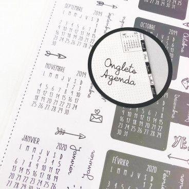 Stickers calendriers BUJO