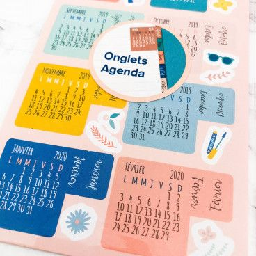 Stickers calendriers pour bujo