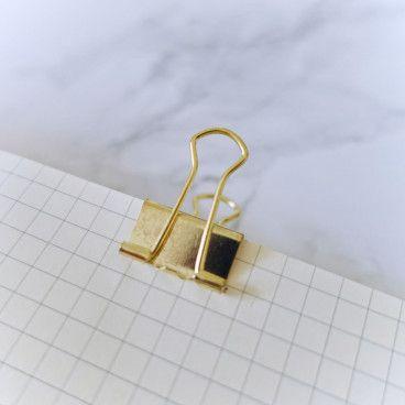 Pinces clips Or 1,9cm